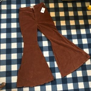 Free People Float on Flare Brown Corduroy 30